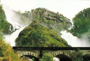 der Latefossen - Wasserfall