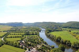 Das Tal der Dordogne zwischen Beynac und Castelnaud