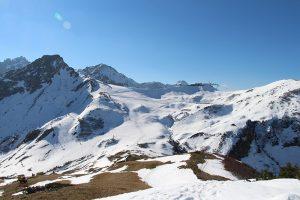Blick vom Fellhorn (Bergstation) zur Kanzelwand