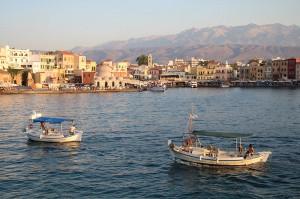 Abendstimmung im Hafen von Chania (Kreta)