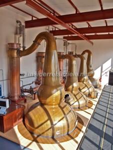 die Brennkessel der Glendronach-Distillery