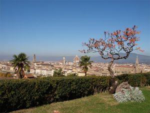 Florenz - Firence, Blick von Süden auf die historische Altstadt