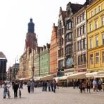 Unterwegs in der Breslauer Altstadt, hier der Rynek