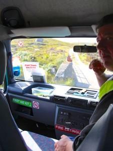 Busfahrt zum Cape Wrath - spannender gehts nicht, Dank des Seemannsgarns der Fahrer!