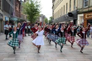 Schottische Folklore in Stirling, Foto © hmg 2012