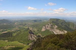 Blick vom Grand Pomerolle auf Saou