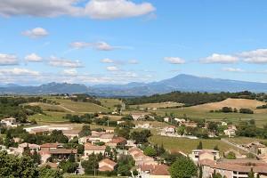 Das Rhone-Tal mit Blick Richtung Haute Provence (Rhone-Alpes)
