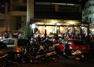 Restaurant Krasi im Hafen von Heraklion
