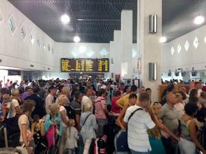 Chaos am Flughafen von Heraklion