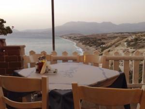 Die Panorama-Terrasse des Vrachos im Sommer 2014