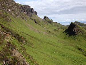 """Atemberaubende Panoramablicke auf dem Wanderweg bei der """"Needle & Prison"""" auf Skye sind garantiert."""