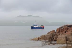 Die Insel Iona konnten wir nur wage im Nebel wahrnehmen...
