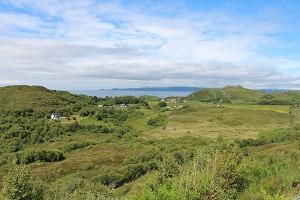 Kurz vor Mallaig gibt es atemberaubende Aussichtspunkte auf die Südspitze von Skye