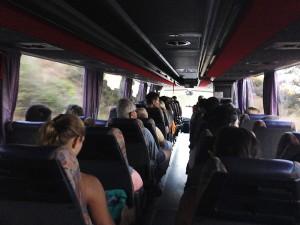Busfahrt frühmorgens von Chania zur Samaria-Schlucht