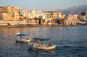 Abendstimmung im Hafen von Chania