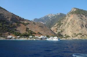 Die Fähren ab Agia Roumeli bringen müde Wanderer zurück zu ihren Bussen.