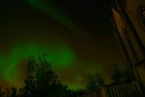 Nordlicht über Reykjavic
