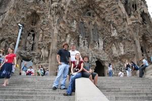 Die Familia Sagrada in Barcelona