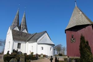 Die Kirche von Broager in Süd-Dänemark nahe Sonderborg