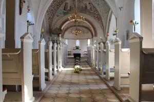 die Kirche von Broager von innen.