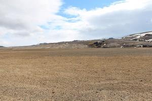 die Asche- und Bimsfelder des Vulkan Hekla