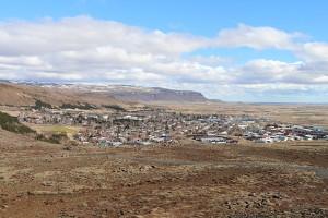 Blick über Hveragerði