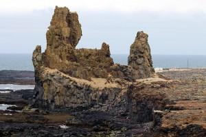 Svalpufa - diese Klippe ist ein berühmter Felsen des isländischen Dichters Kolbeinn. Hier wurde demnach ein Dichterstreit mit dem Teufel ausgetragen.