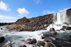 Wasserfall Öxará im Thingvellir