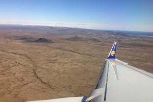 Anflug auf Keflavik: Vulkane und Lavafelder prägen den Südwestzipfel Islands