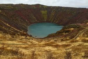 für gewöhnlich farbenprächtig: der Kratersee Kerið