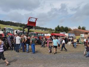 Landmaschinen auf dem Markt von Thoras