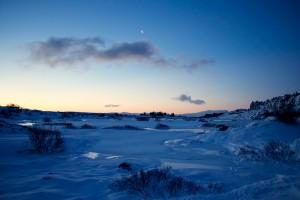 Sonnenaufgang über dem Þingvellir Nationalpark