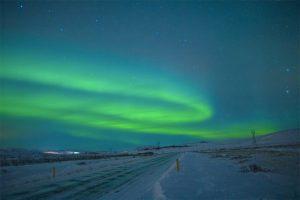 Aurora Borealis über dem Þingvellir Nationalpark