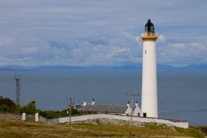 Der Rhuvaal Leuchtturm an der Nordspitze von Islay ist von den Stevensons
