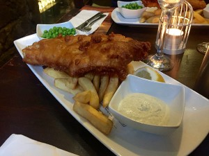 "Der britische Klassiker: ""Fish & Chips"" in der Aracade-Version. Foto: Goede"