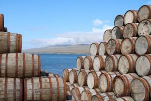 """""""Trockenliegen"""" werden diese Fässer auf Islay sicher nicht lange..."""