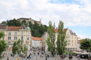 """""""Die 3 Brücken"""" sind das Herz der Innenstadt von Ljubljana"""