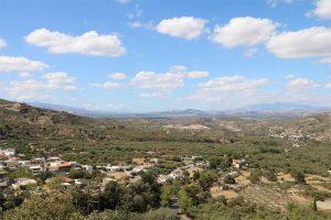 die fruchtbare Messara-Ebene in der Mitte von Kreta