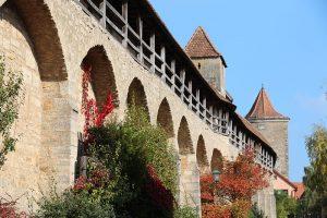 Historische Stadtmauer von Rothenburg ob der Tauber