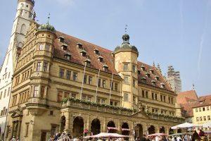 Historisches Rathhaus von Rothenburg ob der Tauber