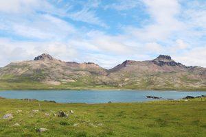 Blick von Bakkagerdi über den Borgarfjördur