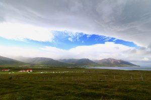 es müssen nicht immer die Alpen sein, um einen Föhnsturm zu erleben - das geht auch wie hier in Dalvik nördlich von Akureyri