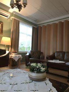 der Salon des Hotel Bjarkalundur in den Westfjords