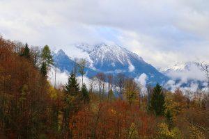 Herbstwetterimpressionen am Obersalzberg, Blick Richtung Watzmann