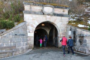 der Tunnelzugang zum Lift im Kehlstein