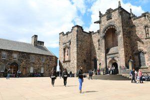 Innerer Hof der Zitadelle des Edinburgh Castle