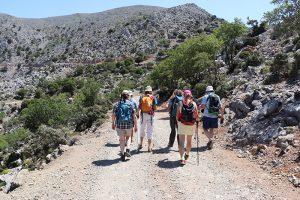 Start der Rouvas-Schlucht Durchquerung auf über 1.300 Meter Höhe