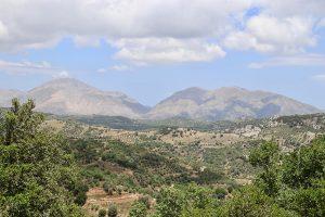 Blick auf Mount Ida auf Höhe von Perama