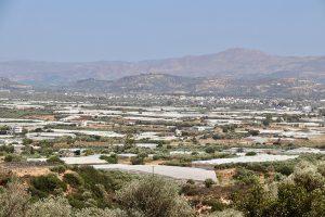 die Messara Ebene mit Blick auf Timbaki