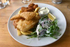 Fish & Chips exquisit im Anchorage